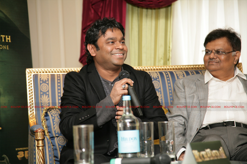 12mar kochadaiyaan media03 Rajnikanth and AR Raman at the Kochadaiyaan launch UK in Pictures!