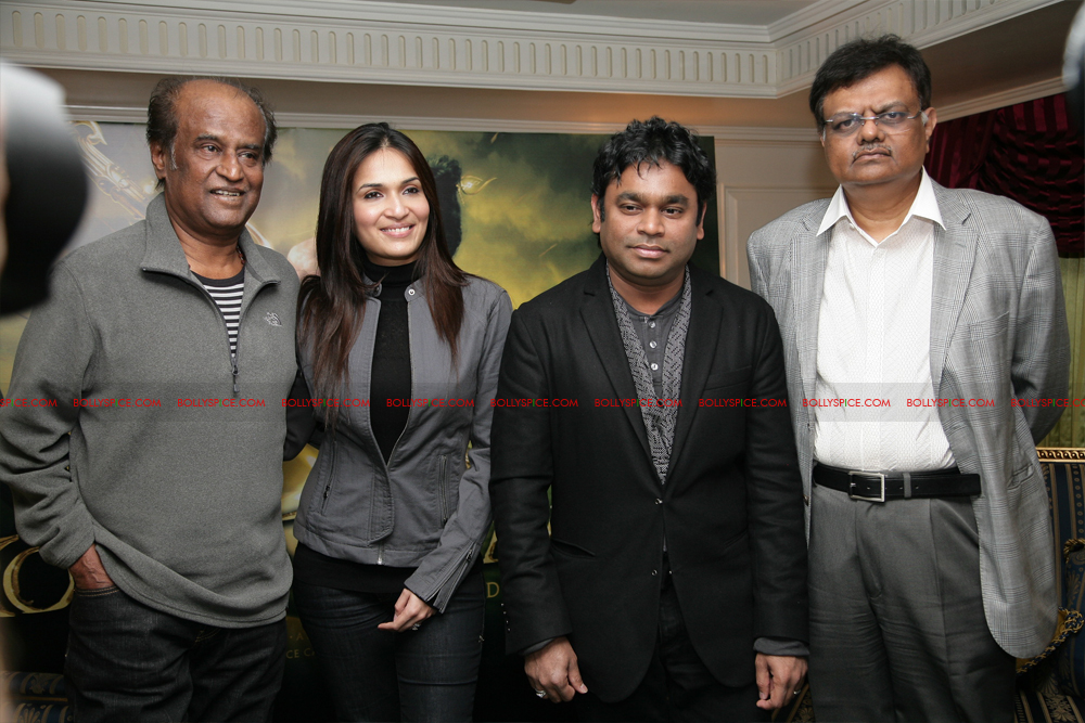 12mar kochadaiyaan media04 Rajnikanth and AR Raman at the Kochadaiyaan launch UK in Pictures!