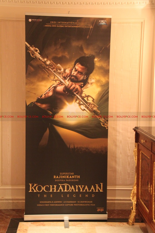 12mar kochadaiyaan medialaunch01 Rajnikanth and AR Raman at the Kochadaiyaan launch UK in Pictures!