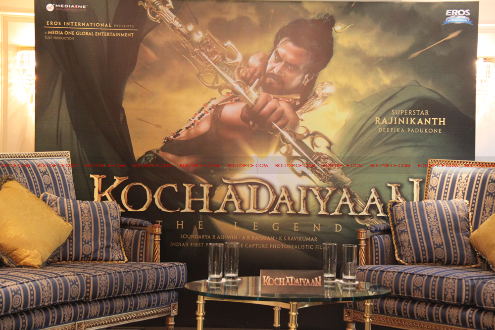 12mar kochadaiyaan medialaunch04 Rajnikanth and AR Raman at the Kochadaiyaan launch UK in Pictures!