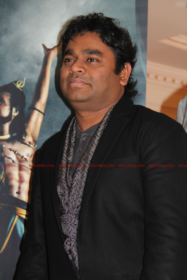 12mar kochadaiyaan medialaunch07 Rajnikanth and AR Raman at the Kochadaiyaan launch UK in Pictures!