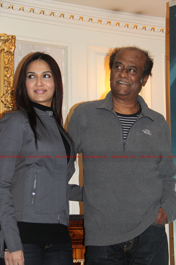 12mar kochadaiyaan medialaunch08 Rajnikanth and AR Raman at the Kochadaiyaan launch UK in Pictures!
