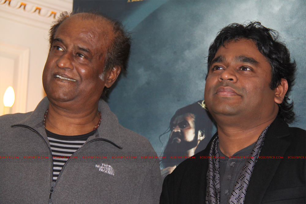 12mar kochadaiyaan medialaunch10 Rajnikanth and AR Raman at the Kochadaiyaan launch UK in Pictures!