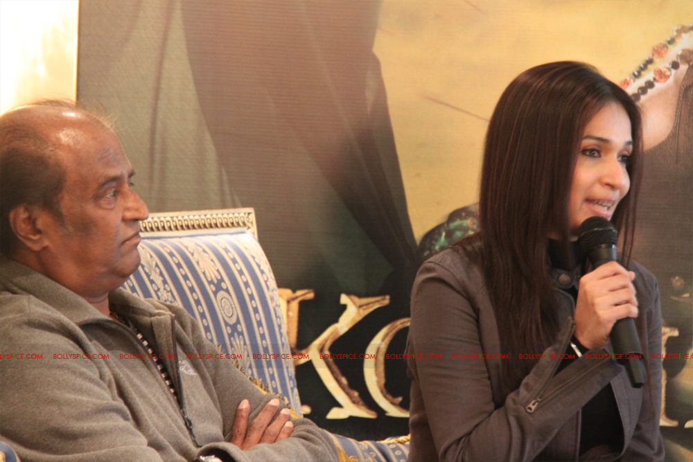 12mar kochadaiyaan medialaunch12 Rajnikanth and AR Raman at the Kochadaiyaan launch UK in Pictures!