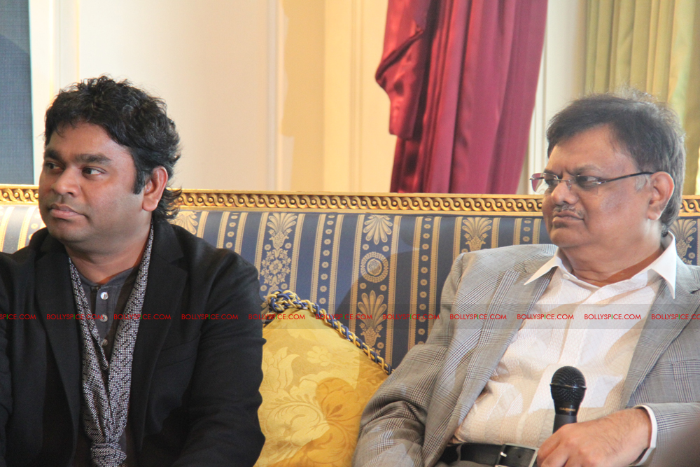 12mar kochadaiyaan medialaunch19 Rajnikanth and AR Raman at the Kochadaiyaan launch UK in Pictures!