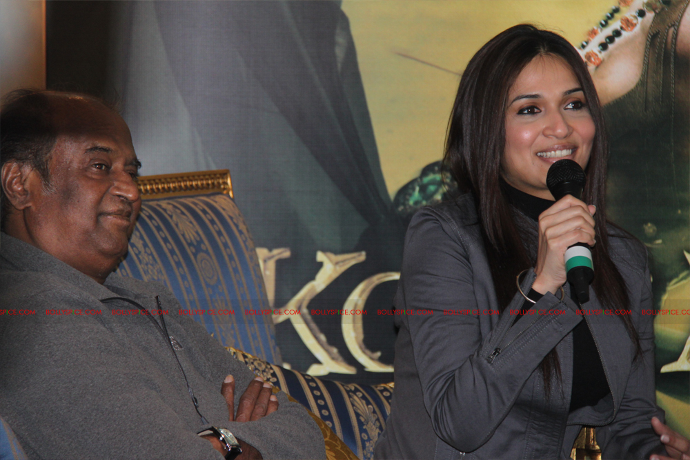 12mar kochadaiyaan medialaunch21 Rajnikanth and AR Raman at the Kochadaiyaan launch UK in Pictures!