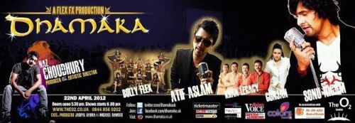 dhamaka The Beat and the Show Goes On with Atif Aslam and yes, Sonu Niigaam!   Dhamaka 2012