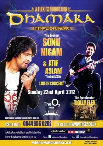 dhamka02 212x300 UK Readers! Win Tickets to See Atif Aslam and Sonu Niigaam in Concert at the O2!