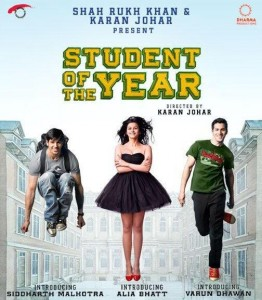 sotyposter 262x300 Karan Johars Student of the Year set to release in October!