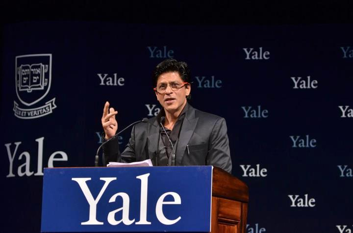srkatyale Shah Rukh Khans Inspiring lecture at Yale