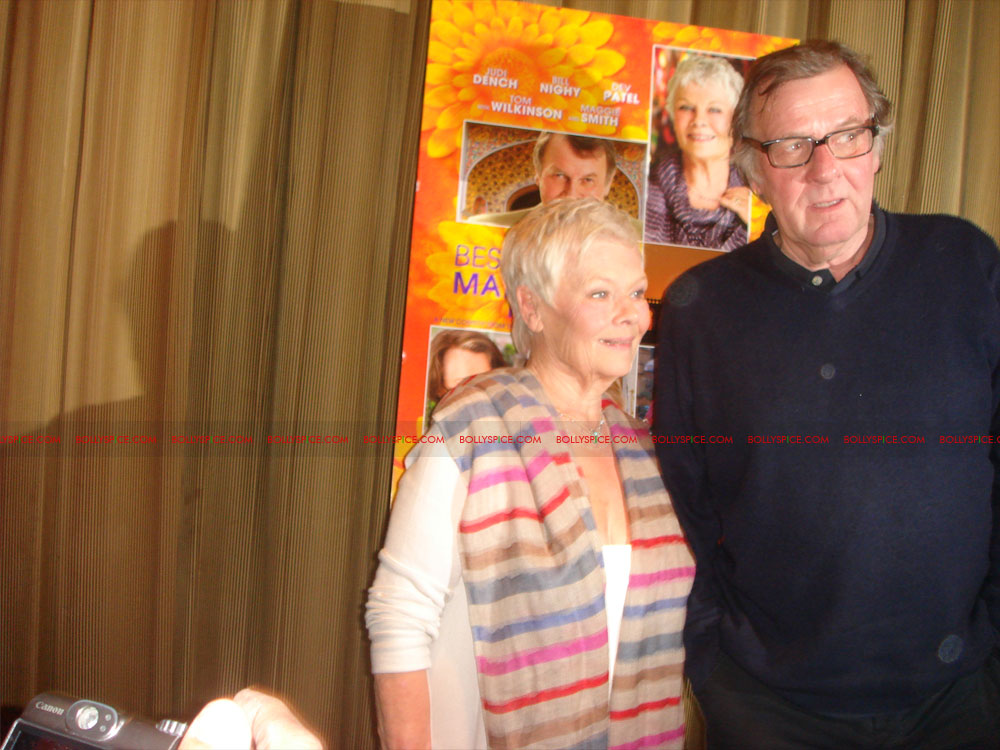12may TBEMHpressconfNY06 Special Report: The Best Exotic Marigold Hotel New York Press Conference