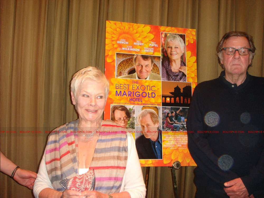12may TBEMHpressconfNY10 Special Report: The Best Exotic Marigold Hotel New York Press Conference