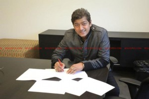 12may aadesh matriarch 300x200 Matriarch Multimedia Group signs deal with International Music Superstar Aadesh Shrivastava