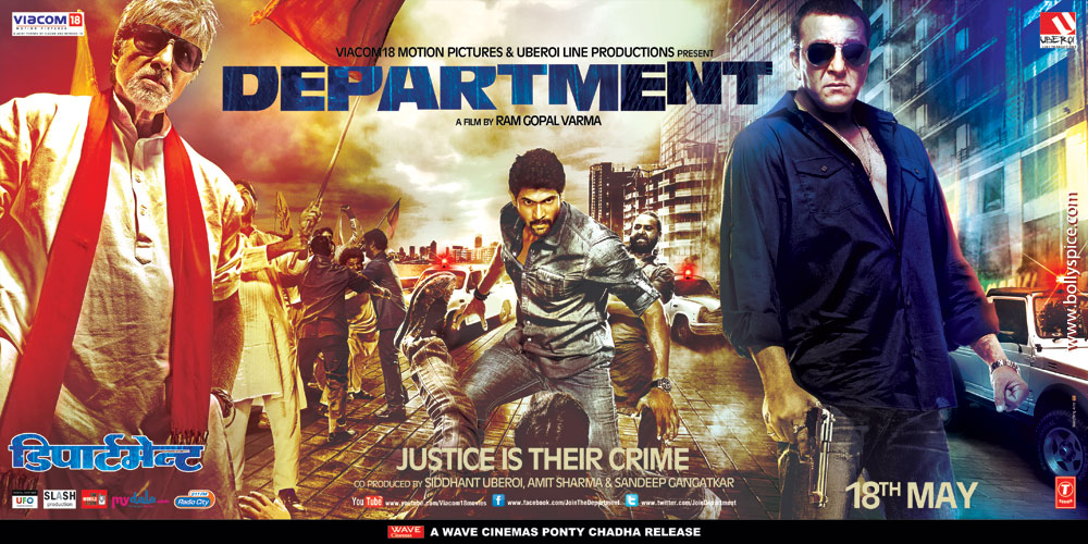 12may department 18May Amitabh Bachchan, Sanjay Dutt and Rana Duggubati go head to head in Department