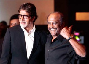 12may rajnikanth bigb 300x214 Romance On Screen, Respect Off Screen