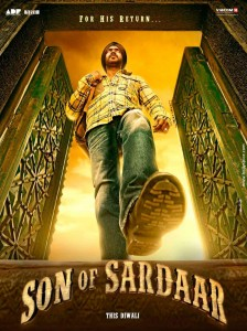 12may sonofsardar poster02 224x300 Ajay Takes Time Out from his vacation to Launch Son of Sardaar!