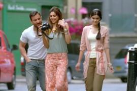 Daaru Desi - Saif, Deepika and Diana in Covent Garden