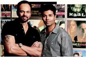 Kjorohitshetty 300x198 Bollywood biggies Karan Johar & Rohit Shetty join hands together for next Dharma film.