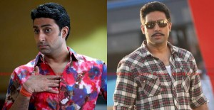 12jun double abhishek 300x155 Seeing Double   Abhishek Bachchan plays his namesake in Bol Bachchan