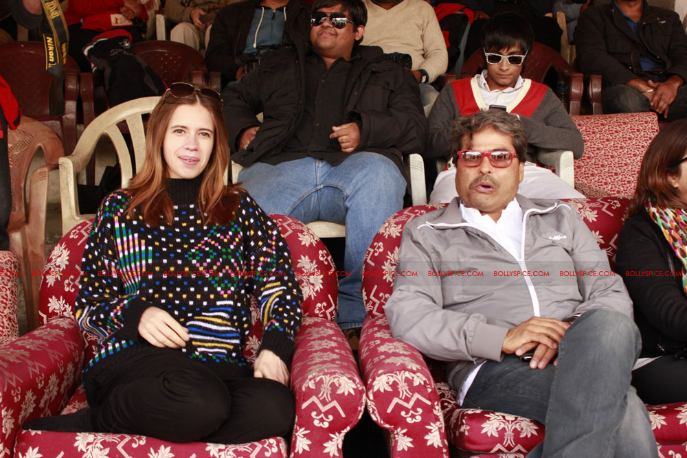 12jun kalki ladakhfestival01 Kalki,Vishal Bhardwaj & Govind Nihalani enjoying polo match held to promote Ladakh tradition during Ladakh International Film Festival