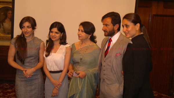 saif kareena Saif and Kareena attend Tiger Pataudi memorial lunch in London