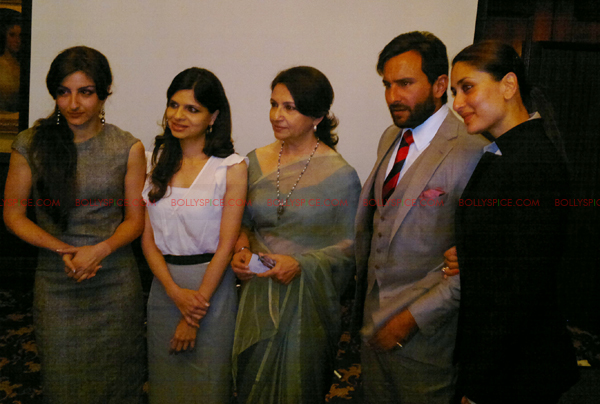 saif kareena01 Saif and Kareena attend Tiger Pataudi memorial lunch in London