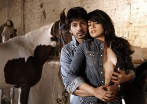 tamancheystill02 300x213 Richa Chaddha and Nikhil Dwivedi play Chors aka thieves in Tamanchey!