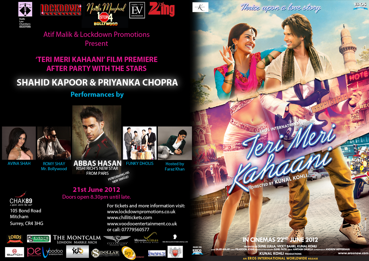 tmk afterparty amended Details on Teri Meri Kahaanis London Premiere and After Party!