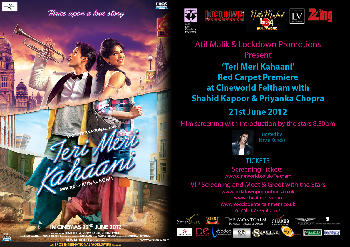 tmk premiere amended 1 Details on Teri Meri Kahaanis London Premiere and After Party!