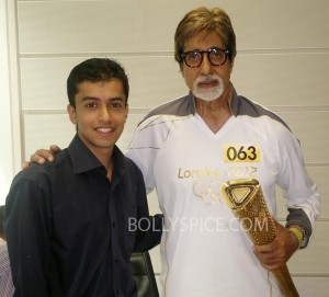 12jul BSinrvw AmitabhOlympicTorch01 300x271 Amitabh Bachchan: It was a privilege to carry this prestigious torch which really represents the entire Olympic movement.