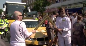 12jul BSinrvw AmitabhOlympicTorch02 300x163 Amitabh Bachchan: It was a privilege to carry this prestigious torch which really represents the entire Olympic movement.