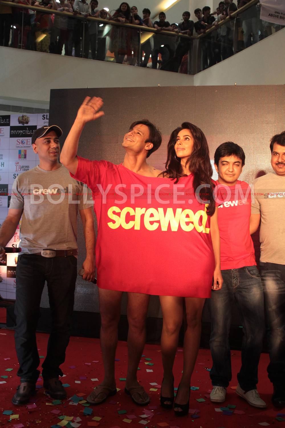 12jul KLPD1stlooklaunch15 Vivek Oberoi and Mallika Sherawat unveil the first poster of Kismat Love Paisa Dilli