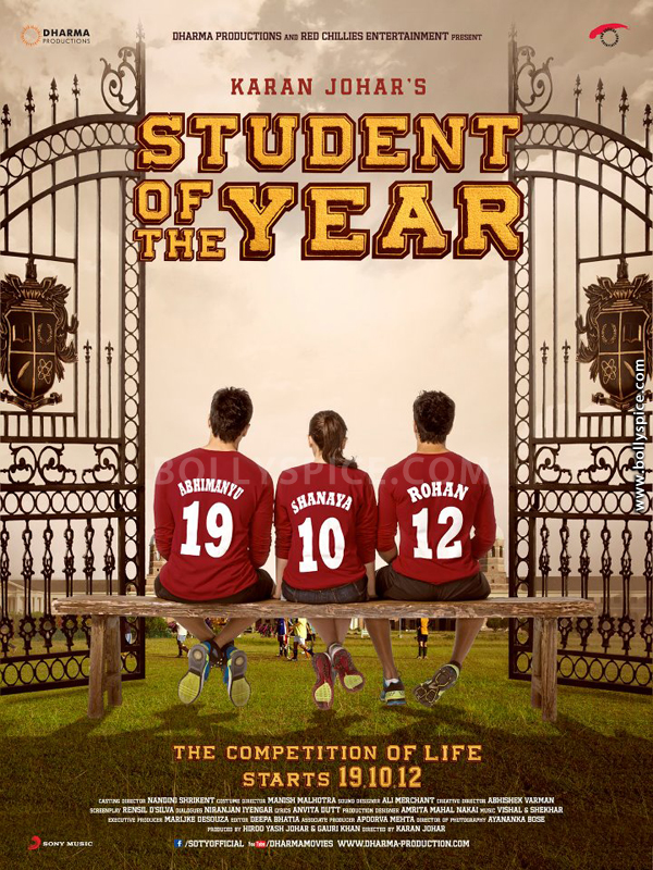 12jul SOTY charactersposter Characters of Student Of The Year revealed!