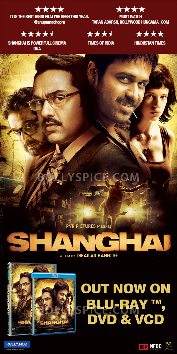 12jul Shanghai onDVD Shanghai now on Blu ray, DVD & VCD