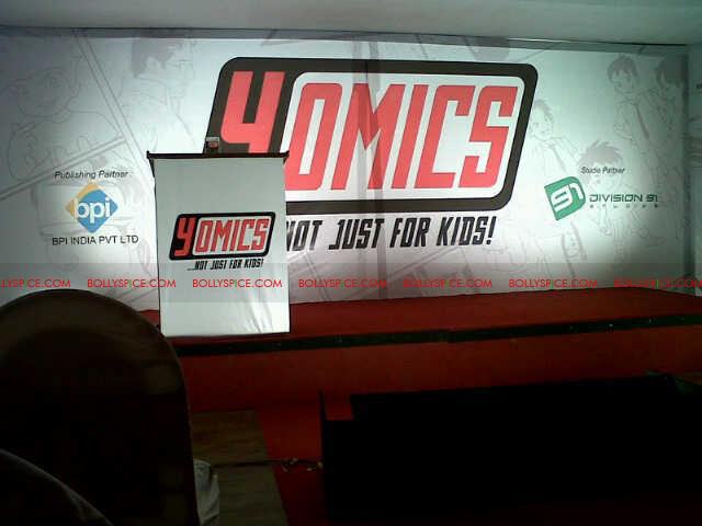 12jul uday abhishek yomics01 Uday Chopra and Abhishek Bachchan launch YOMICS