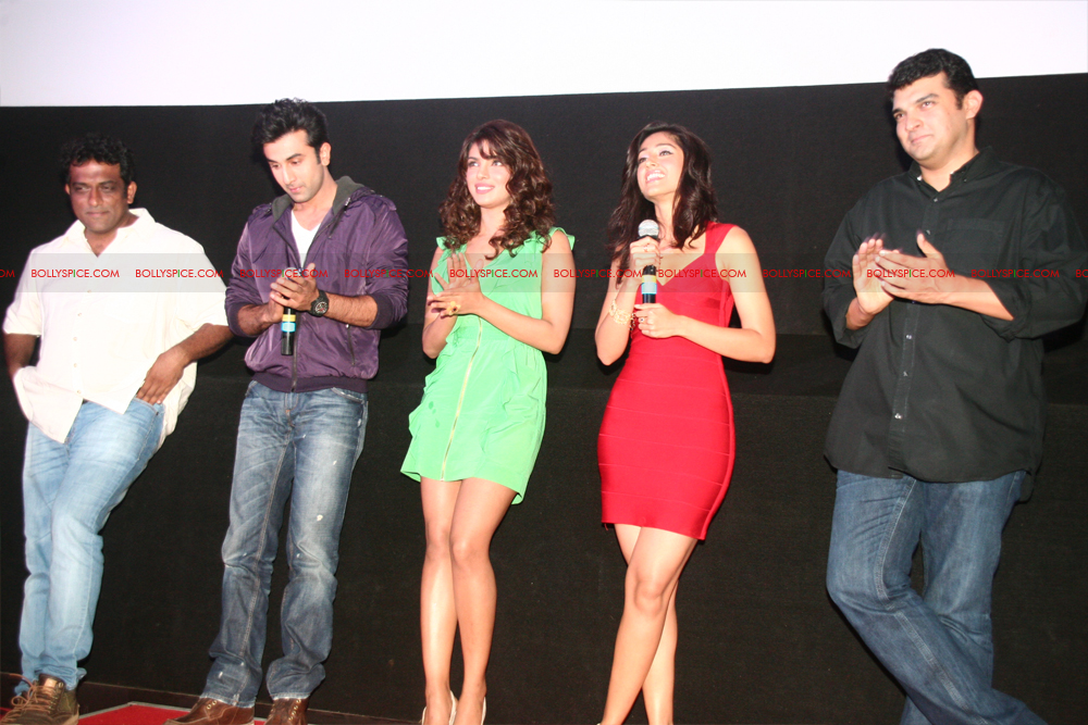 12jun barfitrailerlaunch04 In Pictures and Video: Ranbir and Priyanka at Barfi Trailer Launch!