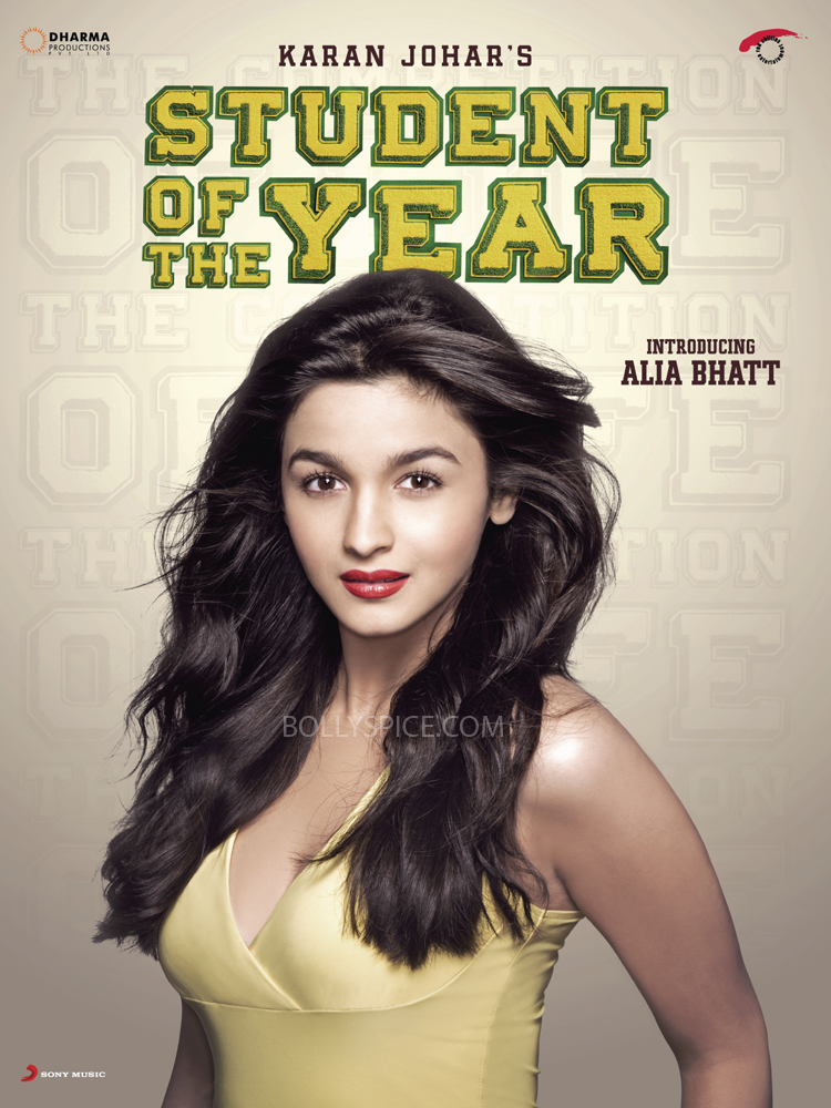 SOTY Alia poster copy Student Of The Year Launches 2nd Poster With Alia Bhatt!