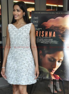 freidatrishna04 223x300 Freida Pinto taking NYC by storm for Trishna!
