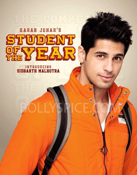 siddharth sotyposter Check out the 1st character poster from 'Student Of The Year'