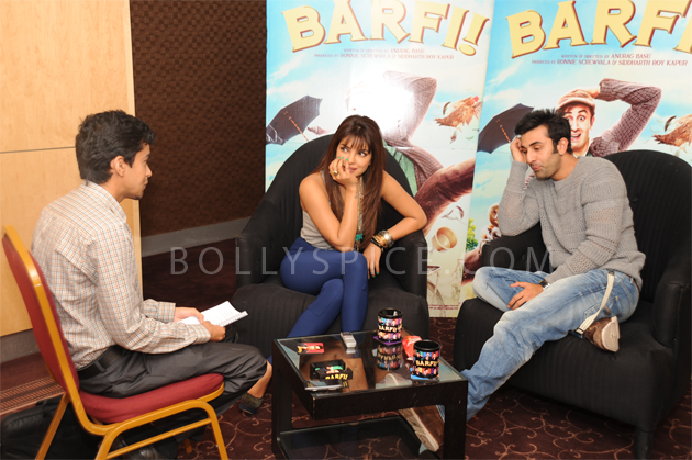 08aug barfi02 Priyanka Chopra and Ranbir Kapoor promote Barfi! in London