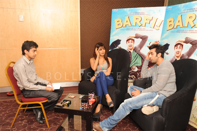 08aug barfi03 Priyanka Chopra and Ranbir Kapoor promote Barfi! in London