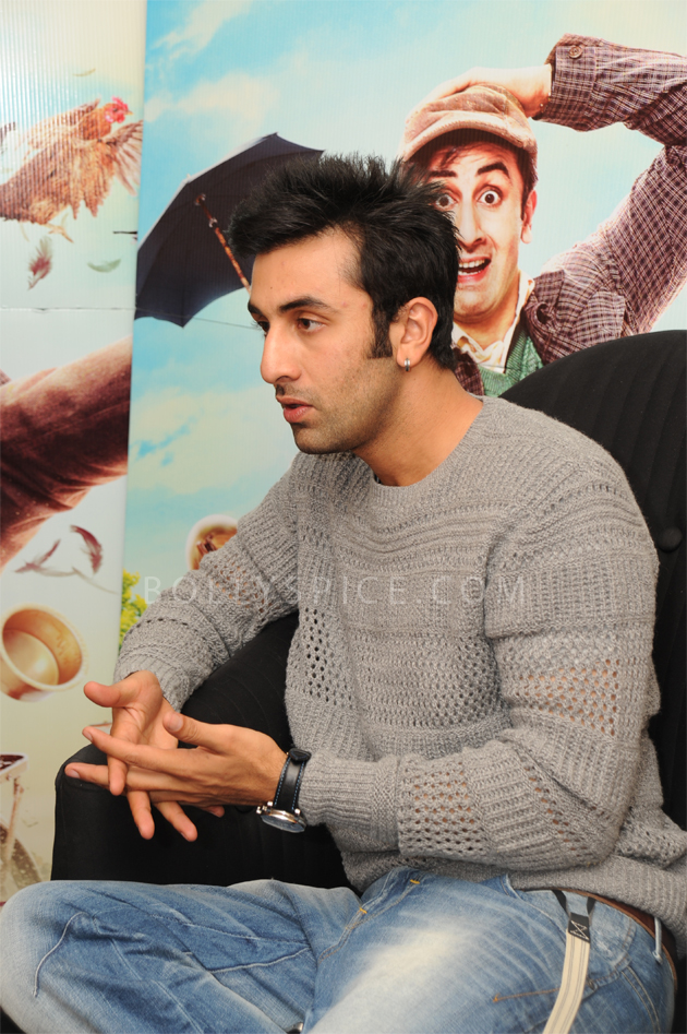 08aug barfi04 Priyanka Chopra and Ranbir Kapoor promote Barfi! in London