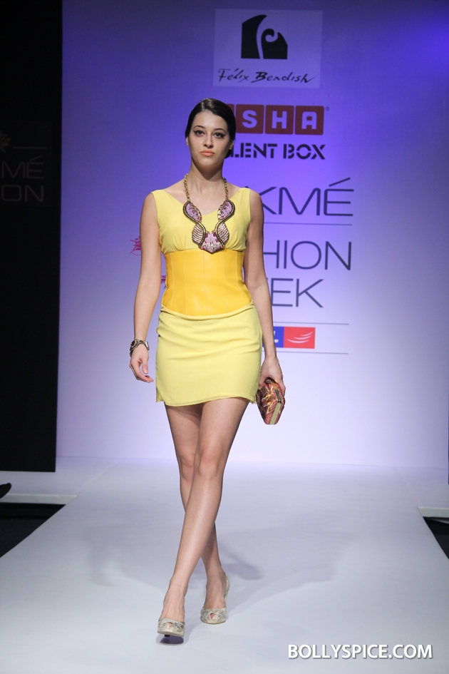12aug LFW winterFelixBendish02 Anushka Khanna, Felix Bendish and Izi Atelier Presented Grand Shows at the Usha Talent Box during Lakmé Fashion Week Winter/Festive 2012