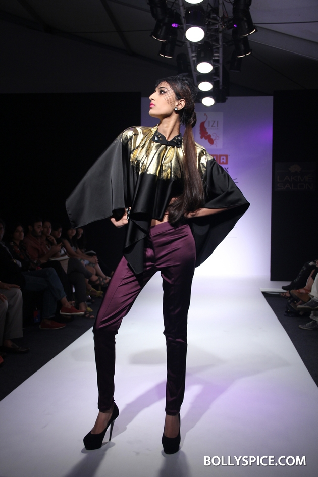 12aug LFW winterIziAtelier02 Anushka Khanna, Felix Bendish and Izi Atelier Presented Grand Shows at the Usha Talent Box during Lakmé Fashion Week Winter/Festive 2012