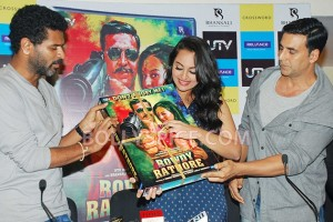 12aug RowdyRathoreDVDlaunch07 300x200 Akshay and Sonakshi at their witty best at DVD launch