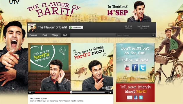 12aug barfi app youtube Make Ranbir Kapoor smile, dance and flirt at your fingertips!