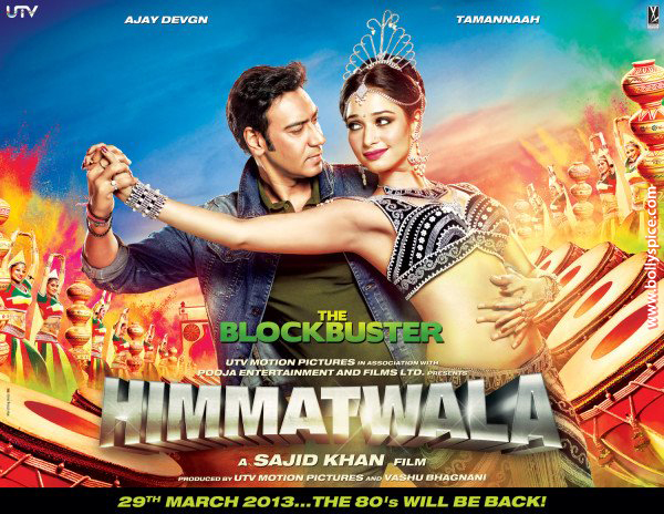 12aug himmatwala poster03 In a first Ajay Devgns next Himmatwalas Mahurat Live on Youtube on Wednesday 22nd August