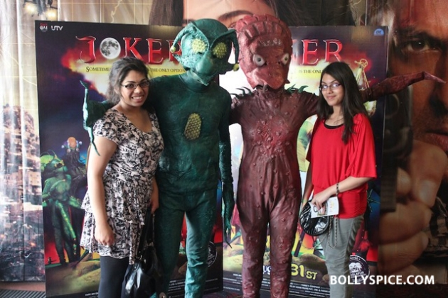 12aug jokeraliensinlondon02 Aliens land in London ahead of India's first extra terrestrial comedy, Joker
