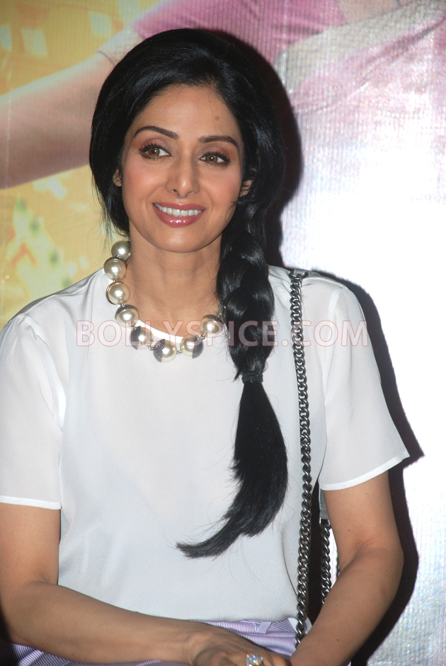 12aug sridevi englishvinglishlaunch01 Sridevi celebrates her birthday with the trailer launch of her movie English Vinglish