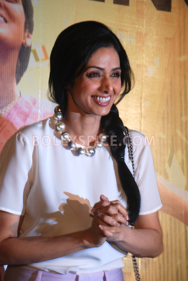 12aug sridevi englishvinglishlaunch02 Sridevi celebrates her birthday with the trailer launch of her movie English Vinglish